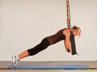 Sling Trainer, Training der Brustmuskulatur, Liegestütz